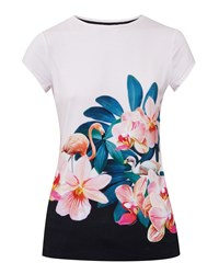 Ted Baker Gerinue Orchid Wonderland Fitted T Shirt Pastel Pink