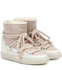 Inuikii Sneaker Wool And Leather Boots White