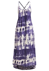 Billabong Silver Bloom Maxi Dress Blue Cruz White