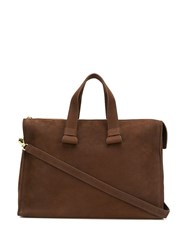 Orciani Top Handle Tote Brown