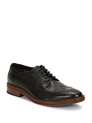 Ben Sherman Max Leather Brogued Dress Shoes Black