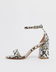Aldo Eteisa Heeled Sandals In Snake Multi