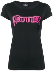 Marcelo Burlon County Of Milan Fitted Logo T Shirt Black