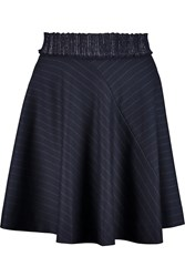 Sandro Jona Pleated Pinstriped Twill Mini Skirt Blue
