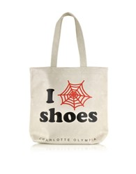 Charlotte Olympia I Love Co Shoes Eco Leather Tote Off White