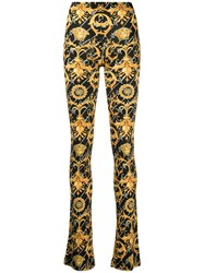 Versace Barocco Signature Print Flared Trousers 60