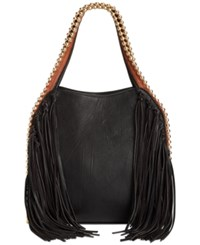 Big Buddha Jgrayele Fringe Hobo Black