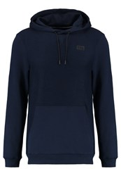 Tom Tailor Denim Reversed Hoody Sweat Hood Hoodie Night Sky Blue Dark Blue