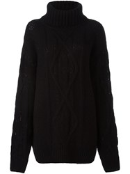 Faith Connexion Oversized Roll Neck Jumper Black