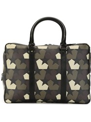 Ports 1961 Star Camouflage Print Briefcase Green