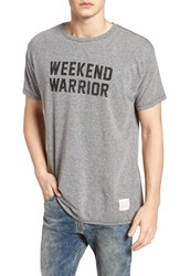 Retro Brand Weekend Warrior T Shirt Streaky Grey