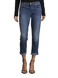 7 For All Mankind Josefina With Rolled Hem Five Pocket Jeans Hyde Park