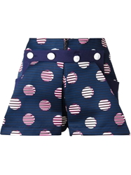Kenzo 'Dots And Stripes' Shorts Blue
