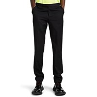 Paul Smith Worsted Wool Evening Trousers Black