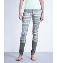 Sweaty Betty To The Beat Dance Stretch Jersey Leggings Tribal Print