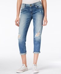 Guess Tomboy Ripped Cropped Inkwell Wash Jeans