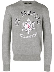Billionaire Cashmere Crew Neck Jumper Grey