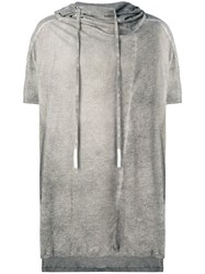 Lost And Found Ria Dunn Hooded T Shirt Cotton Grey