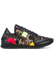 Philippe Model Camouflage Print Sneakers Men Leather Nylon Rubber 42