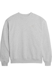 Acne Studios Yana Appliqued Cotton Jersey Sweatshirt Gray