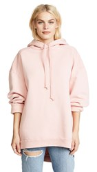 Agolde Logo High Low Hoodie Percy Pink