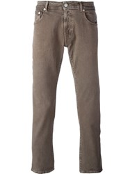 Pt05 Slim Fit Chinos Brown