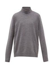Acne Studios Kage Roll Neck Wool Blend Sweater Grey