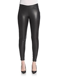 Hue Elasticized Waist Fitted Leggings Black