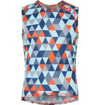 Castelli Pro Printed Stretch Mesh Cycling Tank Top Sky Blue