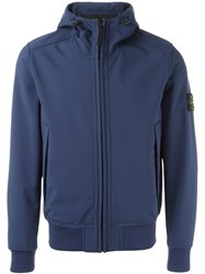 Stone Island Hooded Zip Jacket Blue