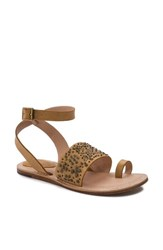 Latigo Vera Embellished Sandal Dark Natural Leather