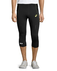 Asics Fuji Trail Performance Knee Tights Black Electric Lime