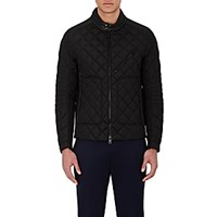 Moncler Men's Diamond Quilted Down Jacket Black Blue Black Blue