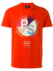 Paul Smith Ps By Logo Printed T Shirt Red