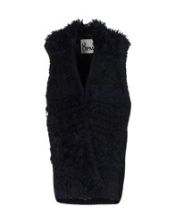 8Pm Coats And Jackets Capes And Ponchos Dark Blue