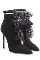 Dsquared2 Suede Ankle Boots With Lace Black