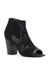 Jessica Simpson Rianne Stretchable Cage Booties Black