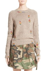 Marc Jacobs Women's Embellished Wool And Cashmere Sweater