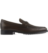 Tod's Large Clamp Leather Moccasins Brown