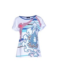 Byblos Topwear T Shirts Women Bright Blue