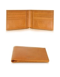 Pineider Country Cognac Leather Billfold Wallet