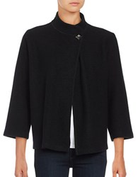 Karl Lagerfeld Wool Blend Cardigan Black