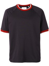 Our Legacy Contrasting Collar T Shirt Men Cotton Polyester Xs Blue