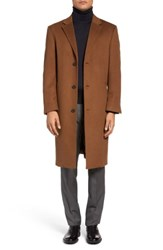Hart Schaffner Marx Sheffield Classic Fit Wool And Cashmere Overcoat Vicuna