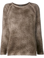 Avant Toi Dyed Crew Neck Sweater Brown