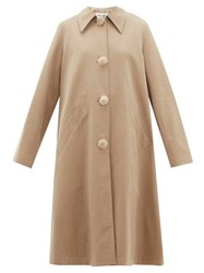 Acne Studios Olympe Oversized Cotton Twill Coat Beige