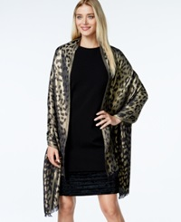 Style And Co. Metallic Leopard Wrap Only At Macy's