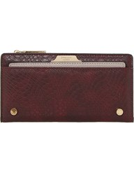Dune Kerrie Reptile Leather Look Purse Berry Plain Synthetic