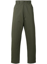 E. Tautz Chore Trousers Cotton Green