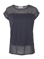 Label Lab Chiffon Mix Boxy Tee Grey